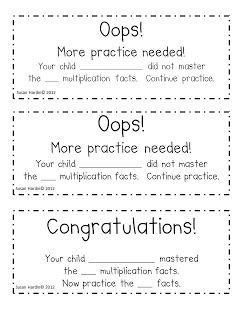 Classroom Freebies Too: Susan Hardin's Multiplication Fluency Assessment Pack