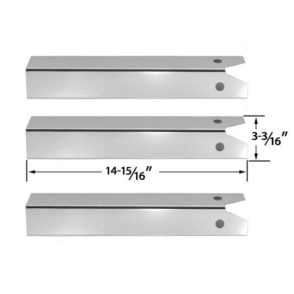 3 Pack Stainless Steel Heat Plate for CFM, Uniflame GBC750W-C, GBC750W, GBC750WNG-C, GBC850W, GBC850W-C, GBC850WNG-C, NSG3902B, Wellington, GNSG3902B and CFM Grill Models