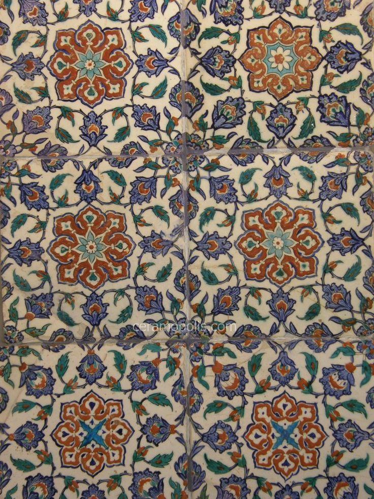 Iznik tiles -- Benaki Islamic Museum, Athens Greece