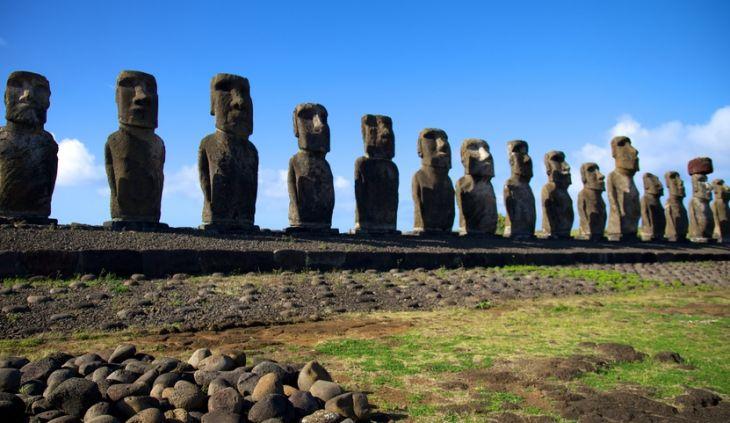 los Moais en Isla de Pascua