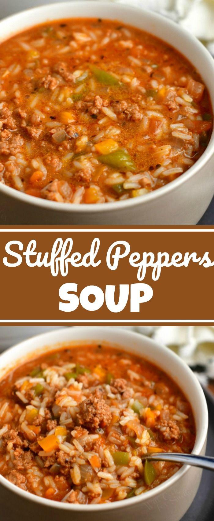 Homemade Stuffed Pepper Soup In 2020 Stuffed Peppers Stuffed Pepper Soup Recipes