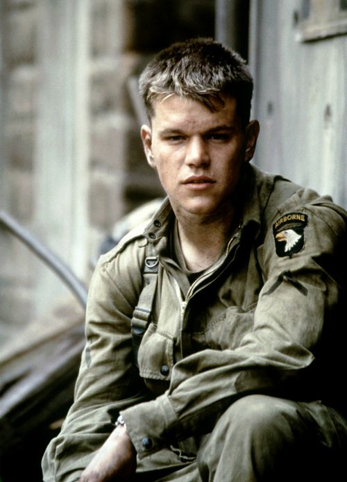 Matt Damon in Saving Private Ryan. God he is so hot!!