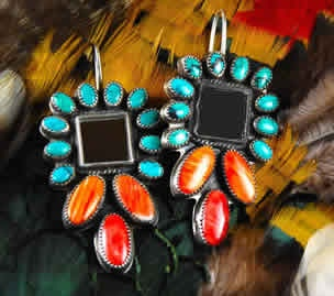 1000 images about ron wesley earrings on pinterest for Turquoise jewelry taos new mexico