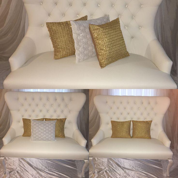 Bridal sofa with customized cushions