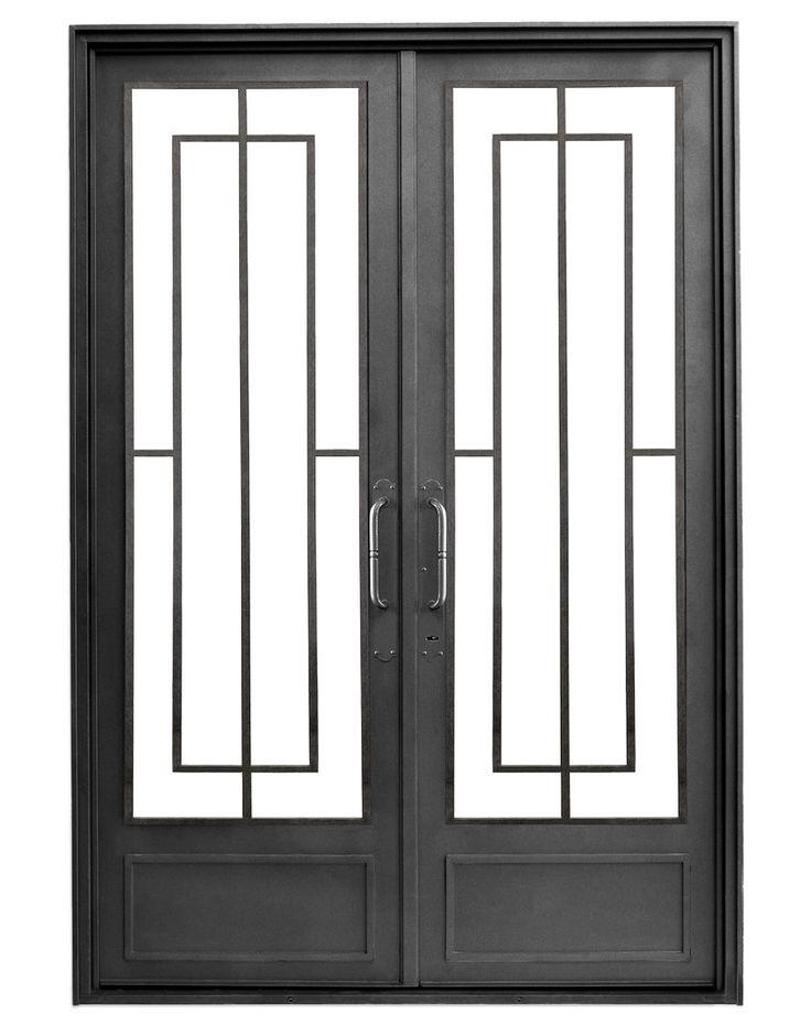 Puerta de entrada de hierro — Del Hierro Design