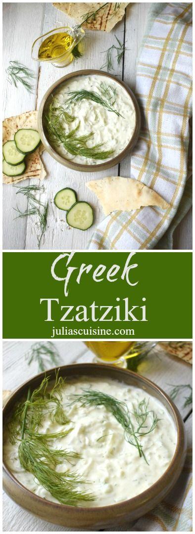 A fresh and tasty Greek Tzatziki dip for all your dipping needs!  http://www.juliascuisine.com/home/tzatziki