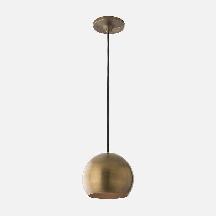 Isaac 1 Light Pendant  - Natural Brass