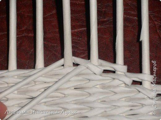 Привет Страна! Выполняю просьбу мастериц - выкладываю поэтапно плетение новой формы. Сразу оговорюсь, что размеры могут быть какими вам угодно. Это может быть даже большая напольная корзина. фото 12