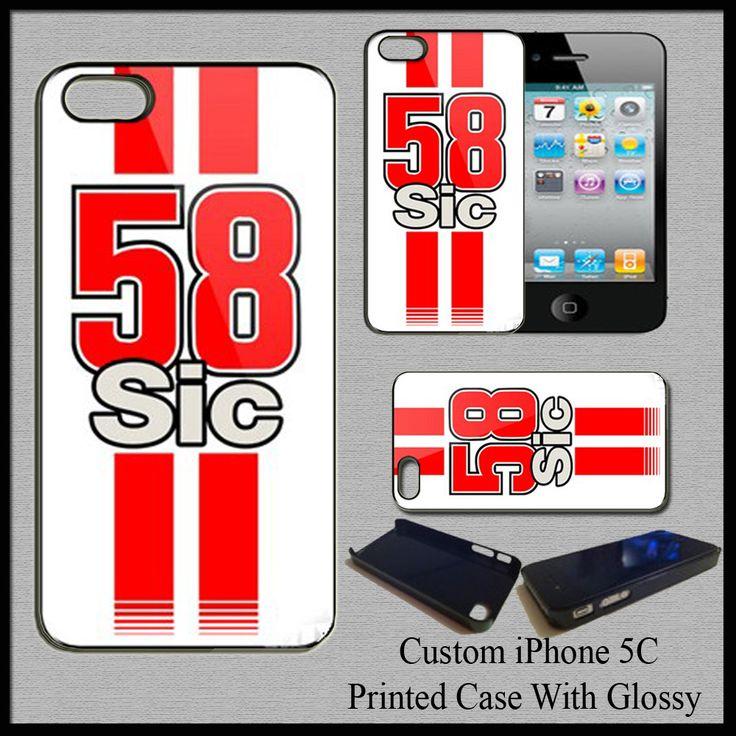 Cover Case Marco Simonceli Supersic MotoGP Champion 58 Rider For iPhone 5C White