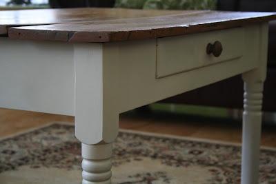 Pottery Barn copycat table: Pottery Barn