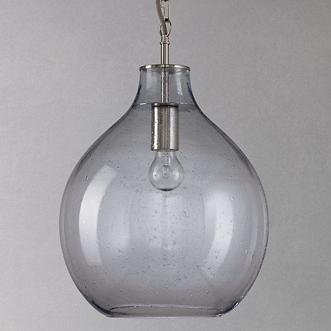 Buy John Lewis Selsey Glass Ceiling Pendant Light, Blue Online at johnlewis.com