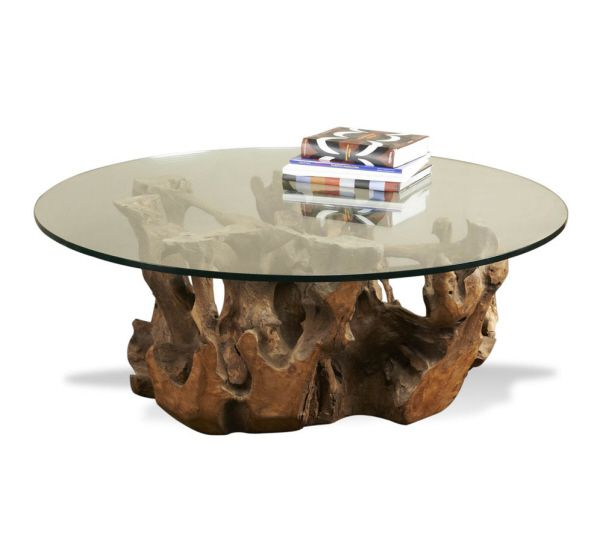 Love this table. Very unique and can be used in both a contemporary or transitional space and lets not forget rustic as well!