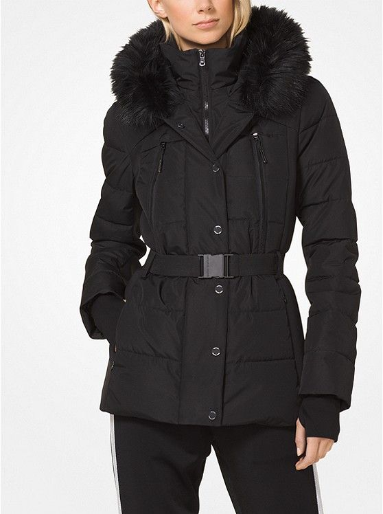 e64588a52e6c Michael Kors Black Quilted Down and Faux Fur Jacket ~ Today s Fashion Item