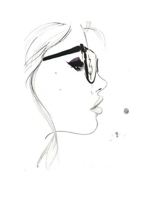 simple beauty simple drawing pencil girl glasses eyeglasses