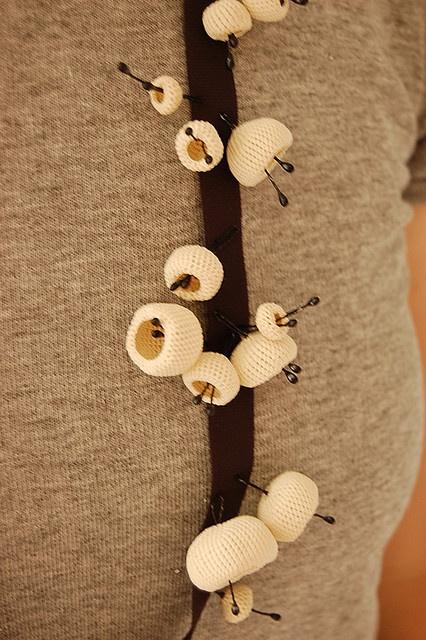 knot : crochet lace necklace by 8tokyo.com, via Flickr