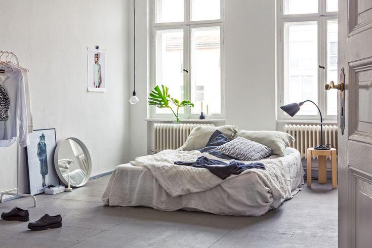 #skandinaavinen #teollinen #makuuhuone #pelkistetty