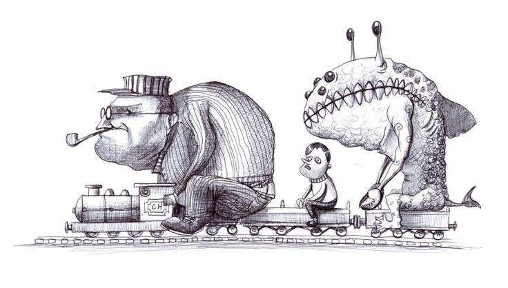 'The Miniature Railway'. Illustration by Chris Harrendence