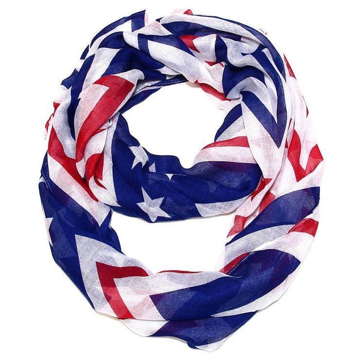 Modern Patriot USA Scarf - Your Choice Infinity or Rectangle