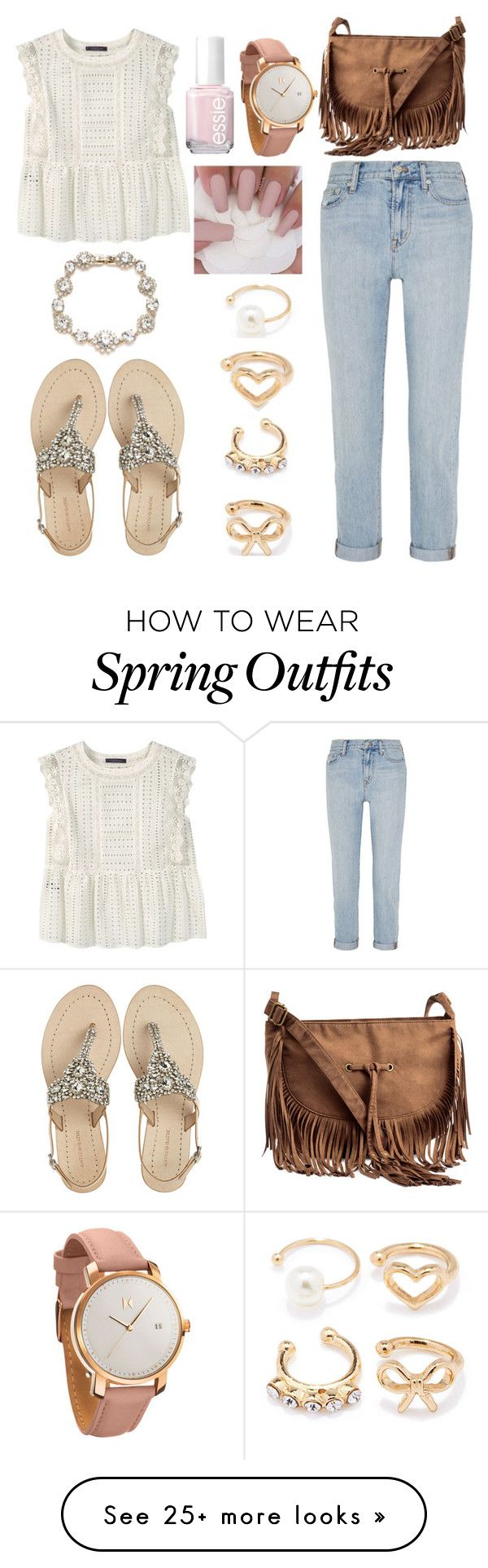"""girly outfit"" by juliyagrig on Polyvore featuring Violeta by Mango, Madewell, Antik Batik, Forever 21, Marchesa, H&M, Essie and MVMT"
