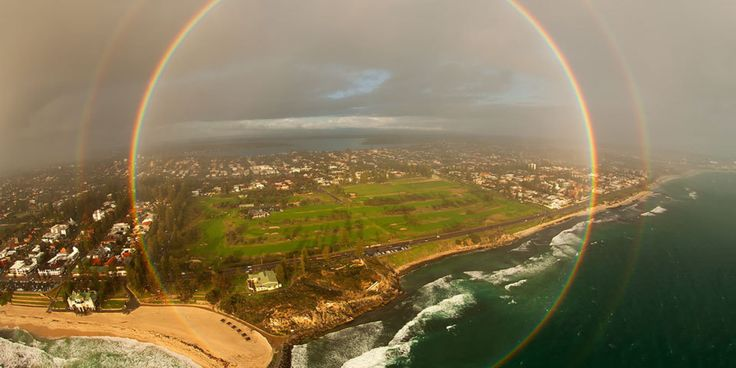 You've probably seen a rainbow at least once in your life. Perhaps you've even been lucky enough to catch a glimpse of a double rainbow. But how about a full circle rainbow?   Now, that's not something you see every day.     On Tuesday, NASA ch...