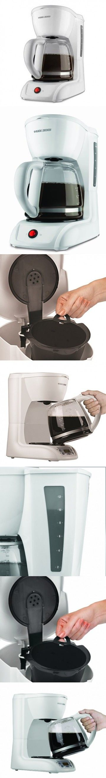 Black & Decker CM1200W 12-Cup Switch Coffeemaker, White
