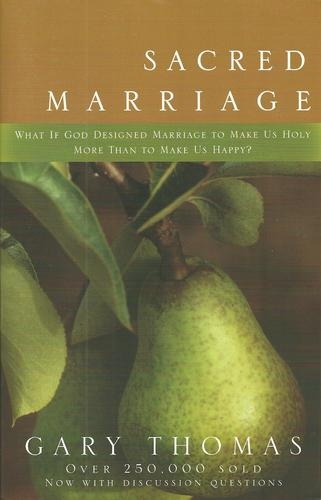 THIS IS A MUST READ!     Your marriage is more than a sacred covenant with another person. It is a spiritual discipline designed to help you know God better, trust him more fully, and love him more deeply. Scores of books have been written that offer guidance for building the marriage of your dreams. But what if God's primary intent for your marriage isn't to make you happy. . . but holy? And what if your relationship isn't as much about you and your spouse as it is about you and God?