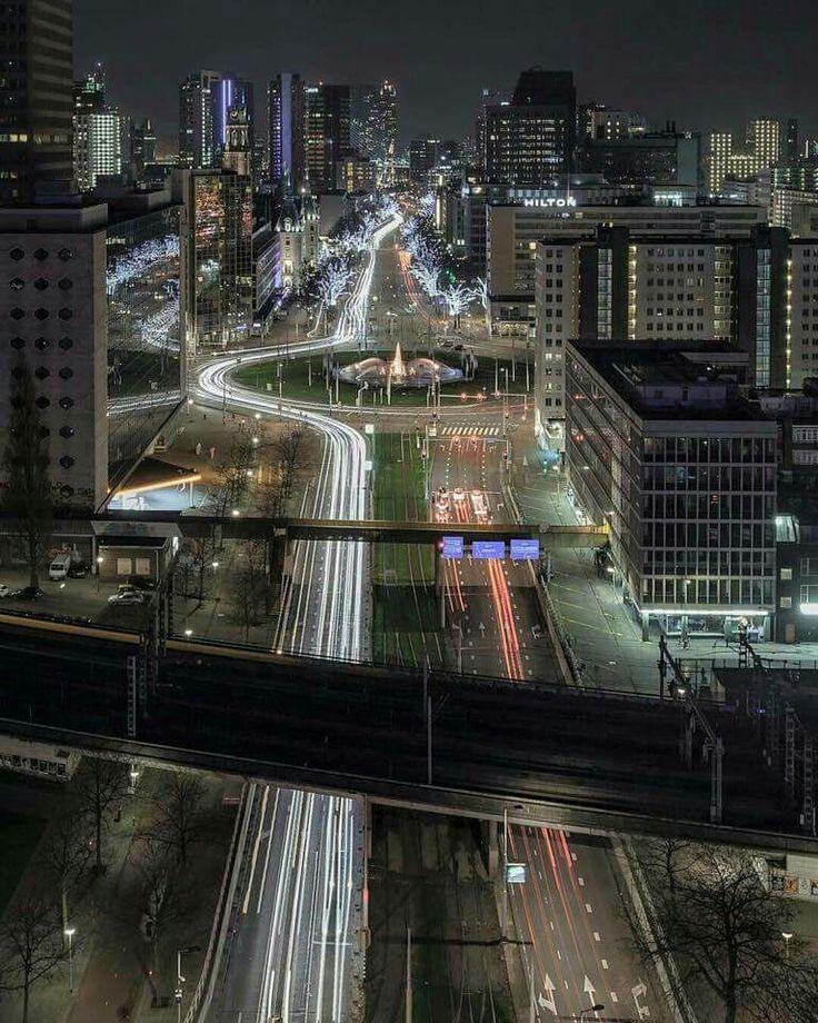 Rotterdam - Night shot 11 (coolsingel)