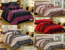 Luxurious 7 Pcs Flock Quilted Bedspread / Comforter / Bed throw