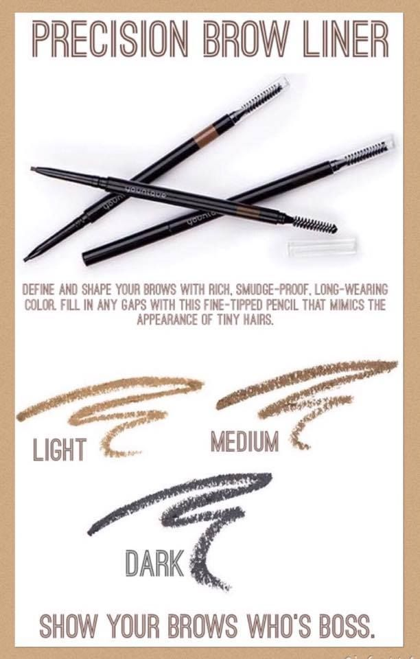 Moodstruck Precision Brow Liner will show your brows who's boss! Define and shape your brows with rich, smudge-proof, long-wearing color. Fill in any gaps with this fine-tipped pencil that mimics the appearance of tiny hairs.