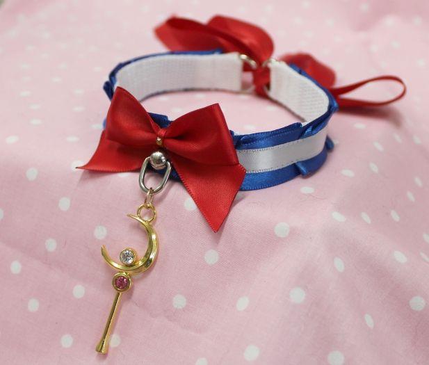 Sailor Moon collar by Kitten's Playpen.