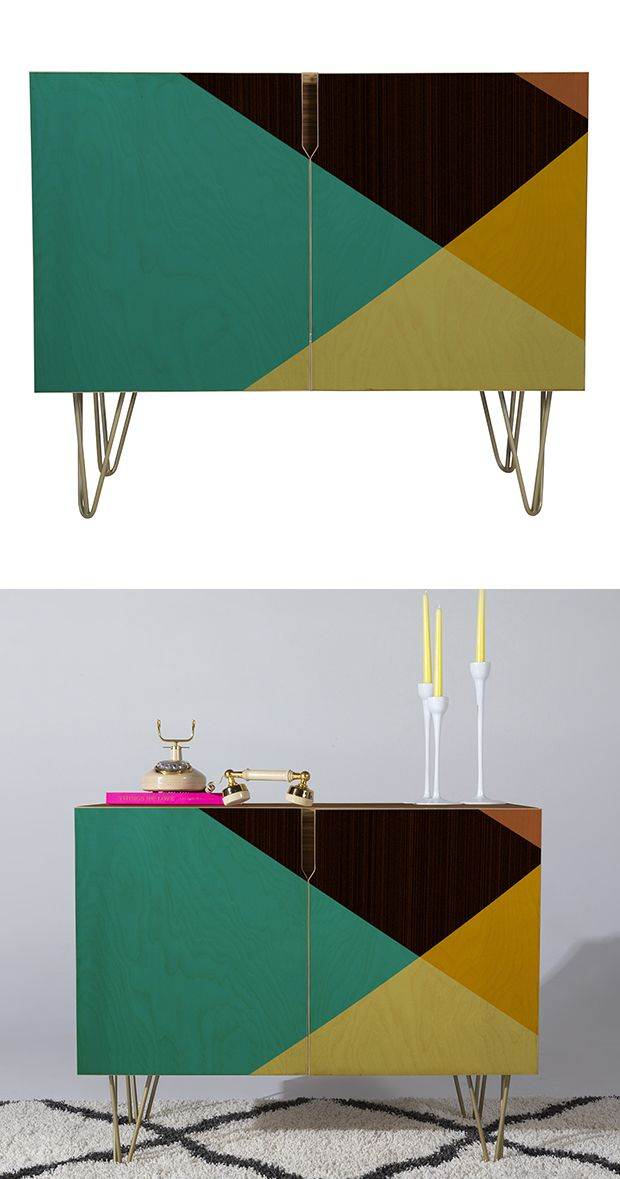 Rock on with the Block On Credenza. We get why mid-century motifs are seeping back into popularity, and this example is perfect. A geometric pattern in cool colors transform this transitional unit into...  Find the Block On Credenza, as seen in the Labor Day Weekend Sales: Furniture Collection at http://dotandbo.com/collections/labor-day-weekend-sales-furniture?utm_source=pinterest&utm_medium=organic&db_sku=131799