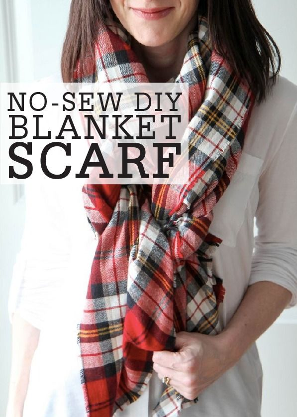 Learn how to make these no-sew blanket scarves for yourself or as a sweet gift to a friend! These beautiful and easy homemade accessories will complete any winter look.