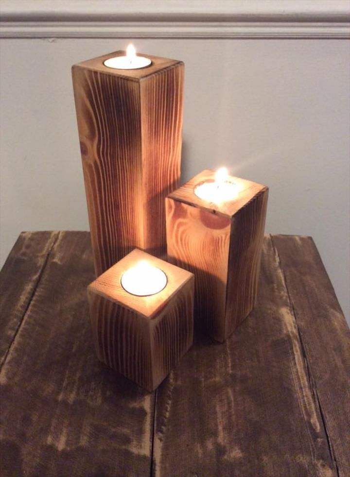 Pallet Candle Holders - Easy to Make