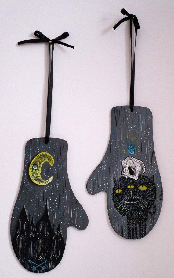 The witch gloves e black cat Original work on di ValentinaZummo