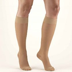 SECOND SKIN Women's Sheer 15-20 mmHg Knee High Support Stockings