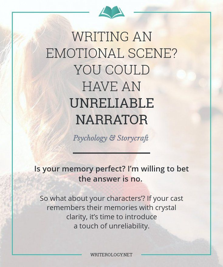 Characters' eyes aren't cameras. Don't believe everything they say they saw. Memories fade, details get distorted, and some features are never remembered in the first place. But that's not a bad thing. Here's how unreliability can strengthen your story.
