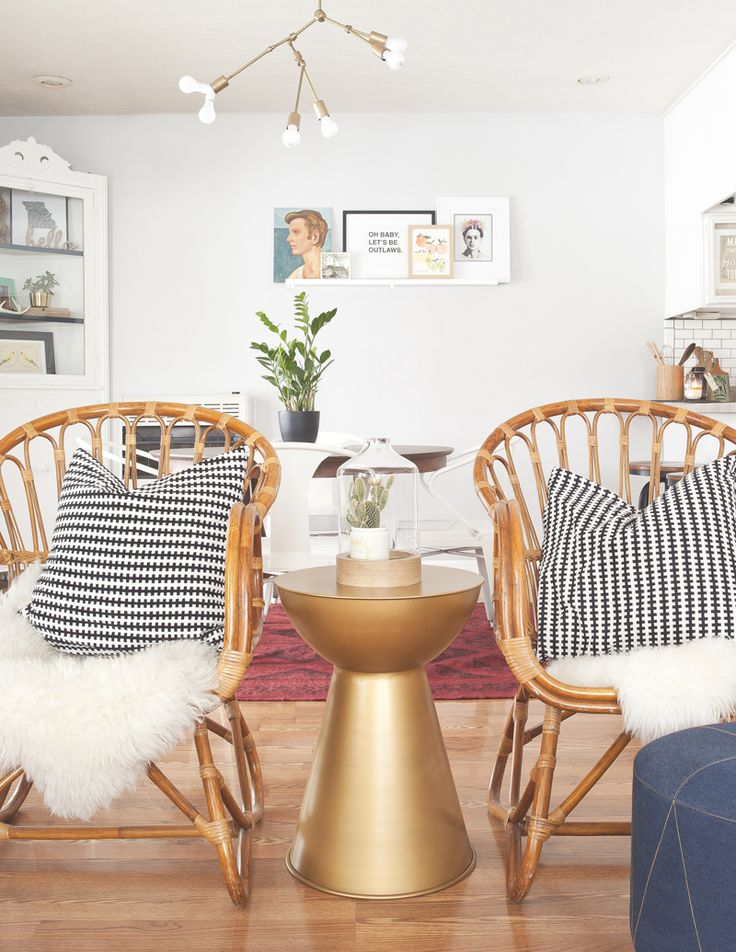 Shearling And Black White Print Paint Chairs Pale Aqua