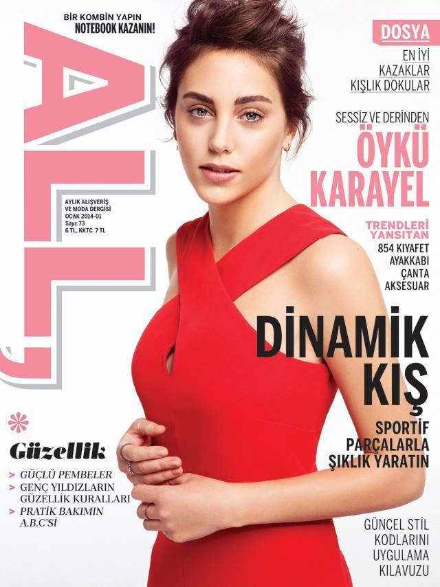 Öykü Karayel - All Magazine Cover [Turkey] (January 2014)