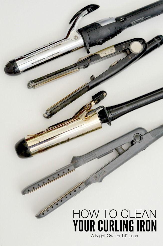 How to Clean Your Curling Iron - SO need to do this! { http://lilluna.com } Great and easy tips!