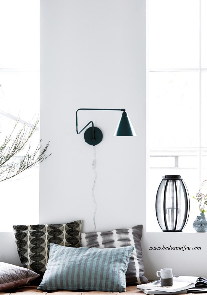 New-York black & white wall light