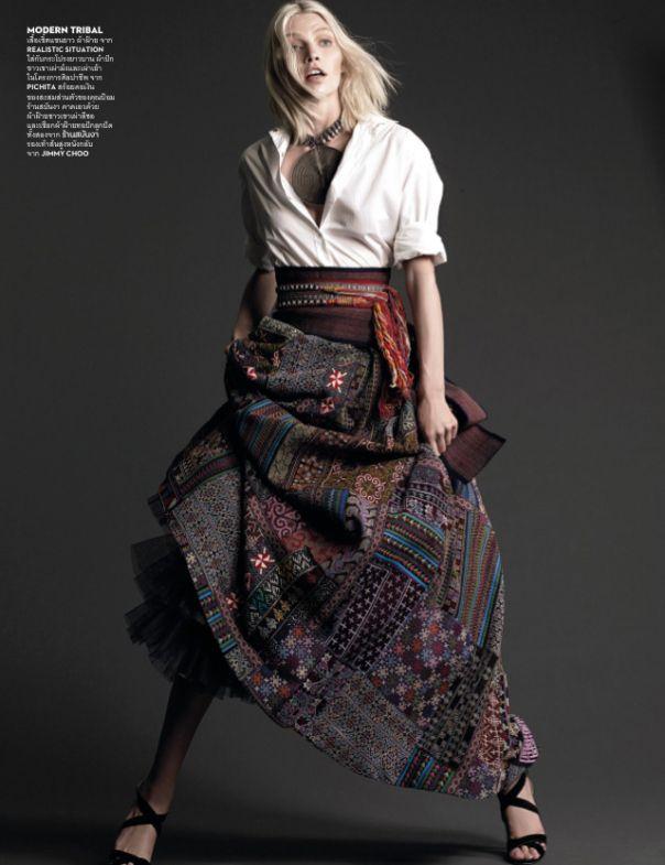 Aline Weber byNat Prakobsantisuk for Vogue Thailand