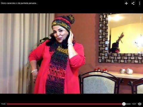 Gorro caracoles o de puntada peruana - Tejiendo con Laura Cepeda - YouTube
