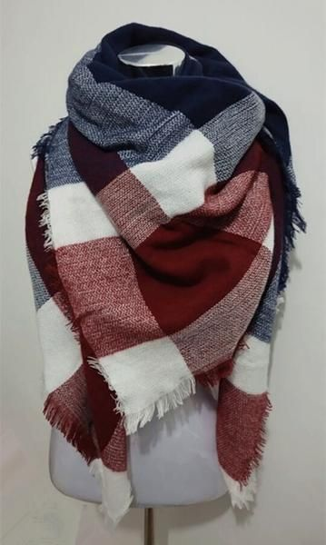 This Red and Blue Plaid Blanket Scarf is a must have this fall! Material: Cotton Please allow 2-3 weeks for shipping and handling.