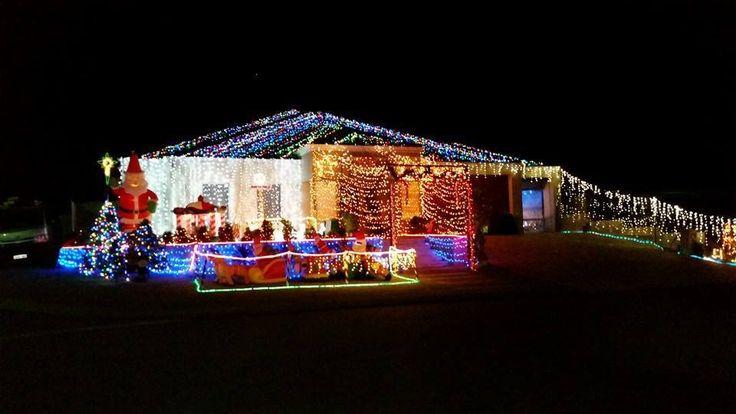 Christmas lights in Hammond Park, WA, Australia.