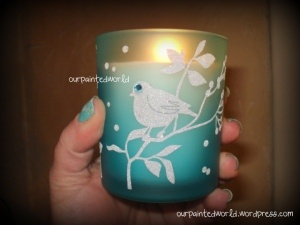 Pier 1 Bird Filled Candle inspires nail design