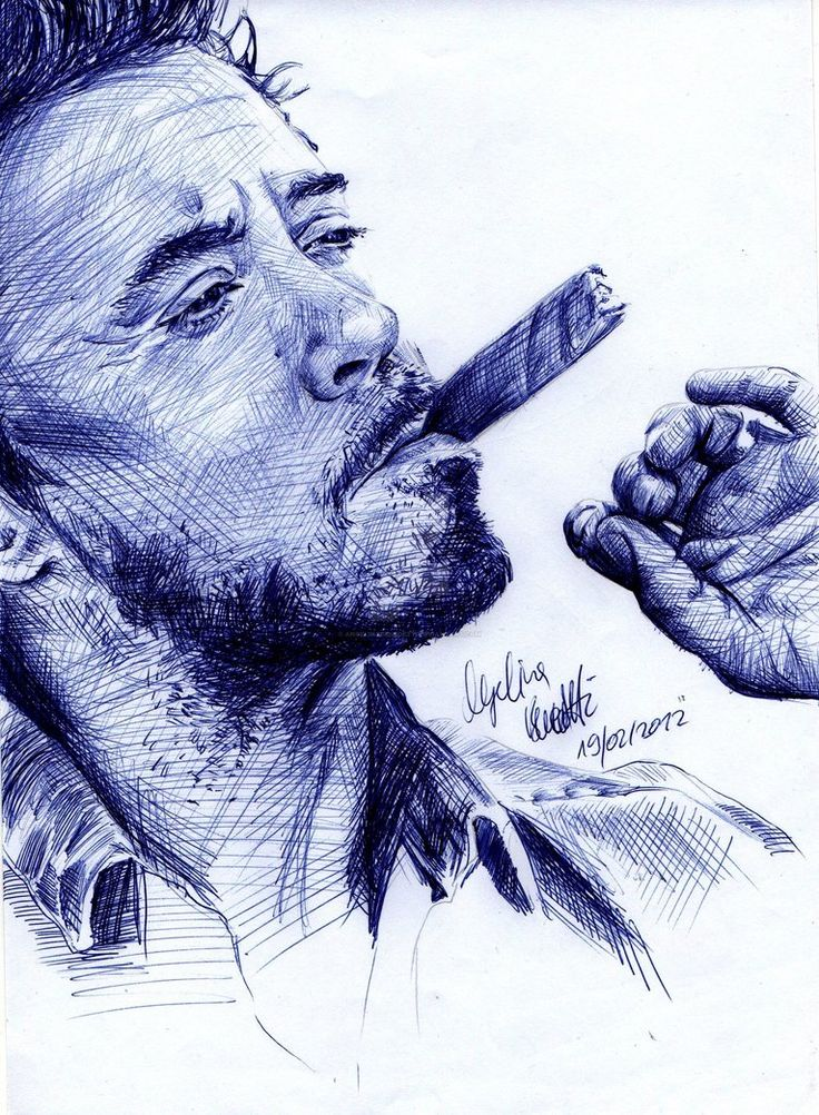 Robert Downey Jr. BAllpoint Pen Result By AngelinaBenedetti | People | Pinterest | Ballpoint Pen ...