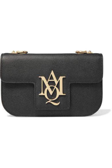 Alexander McQueen - Insignia Textured-leather Satchel - Black - one size