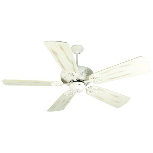 Cordova Antique White Ceiling Fan with 54-Inch Premier Distressed Antique White Blades