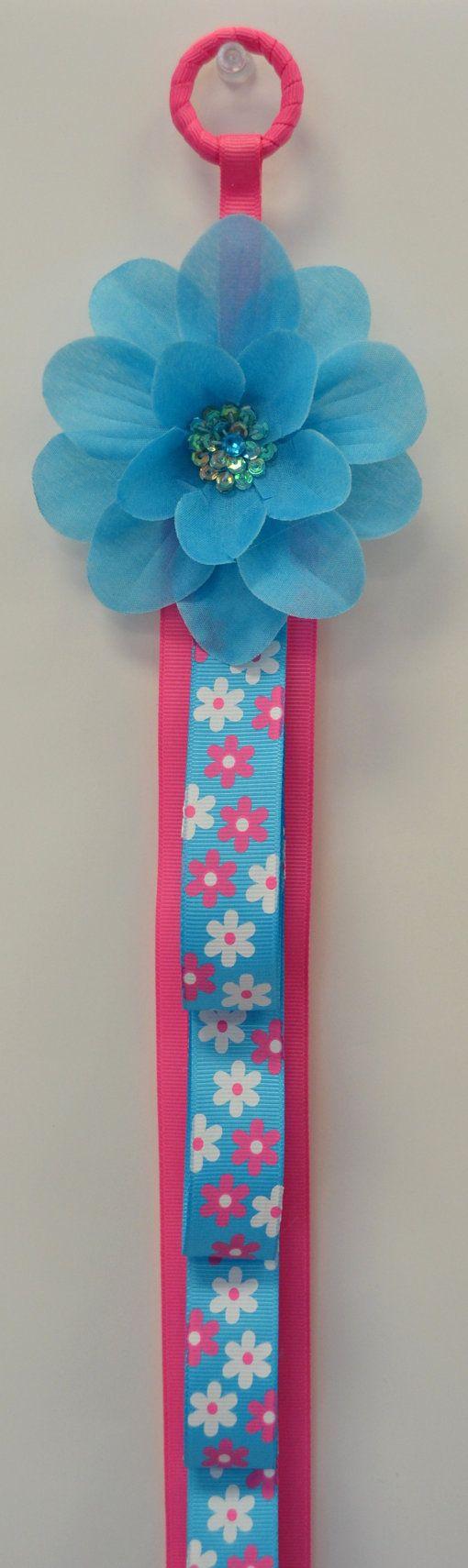 Funky Flower Ribbon Headband Holder by Funnygirldesigns on Etsy, $22.00