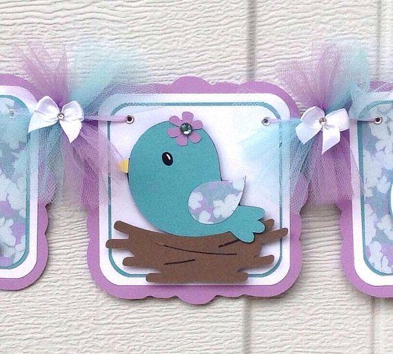 Bandera de pájaro bebé ducha decoraciones por NancysBannerBoutique